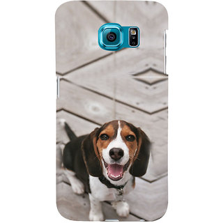 ifasho Grey Dog Back Case Cover for Samsung Galaxy S6