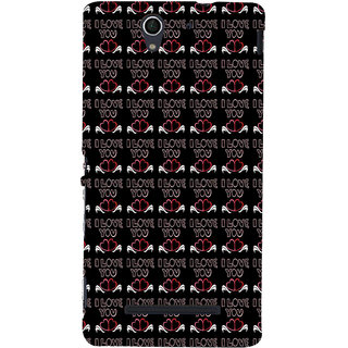 ifasho Animated Pattern With Love and heart and I love you Back Case Cover for Sony Xperia C3 Dual