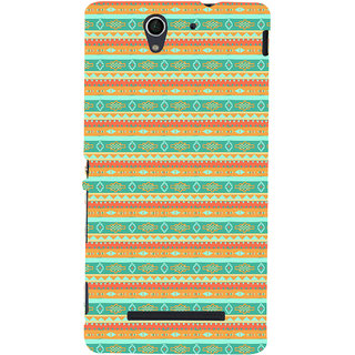 ifasho Animated Pattern colrful 3Daditional design Back Case Cover for Sony Xperia C3 Dual
