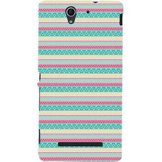 ifasho Animated Pattern colrful 3Dibal design Back Case Cover for Sony Xperia C3 Dual