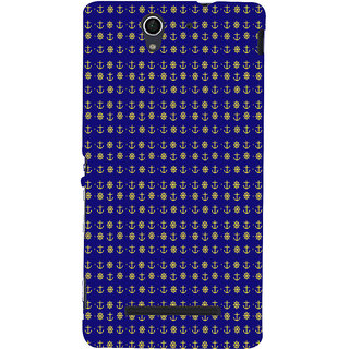 ifasho Modern Art Design Pattern with Lot Of small anchor and disc Back Case Cover for Sony Xperia C3 Dual
