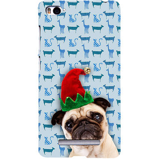 ifasho Dog with red hat Back Case Cover for Redmi Mi4i