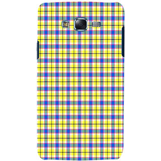 ifasho Colour Full yellow Squre Pattern Back Case Cover for Samsung Galaxy J5