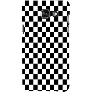 ifasho Squre and Checks In black and white Pattern Back Case Cover for Samsung Galaxy A5 A510 (2016 Edition)