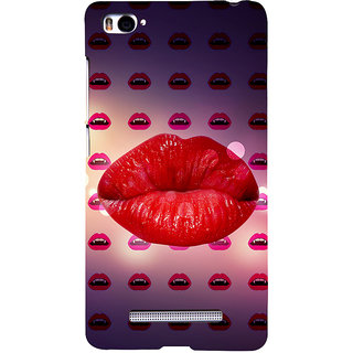 ifasho lovely Lips Back Case Cover for Redmi Mi4i