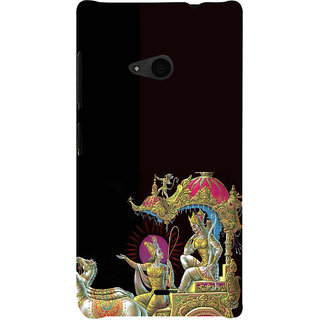 ifasho krishna driving Chariot of Arjun Back Case Cover for Nokia Lumia 535
