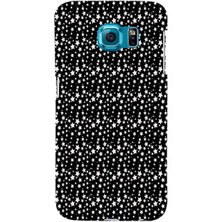 ifasho Modern Art Design animated cloth Pattern of small star Back Case Cover for Samsung Galaxy S6 Edge Plus