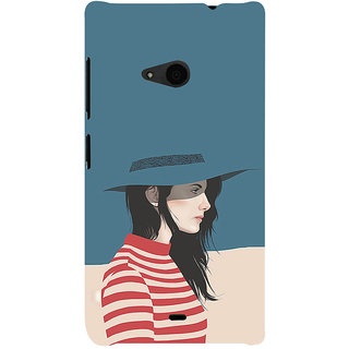 ifasho Girl with Blue Cap and Red s3Dip skirt Back Case Cover for Nokia Lumia 535