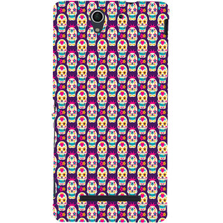 ifasho Modern  Design animated skeleton Pattern Back Case Cover for Sony Xperia C3 Dual