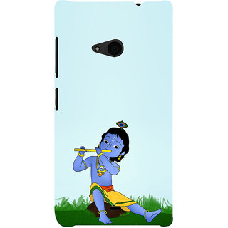 ifasho Lord Krishna with Flute Back Case Cover for Nokia Lumia 535