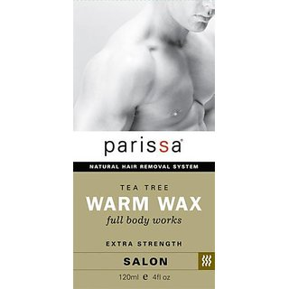 Parissa Tea Tree Warm Wax Natural Hair Removal - For Men - Full Body Extra Strength