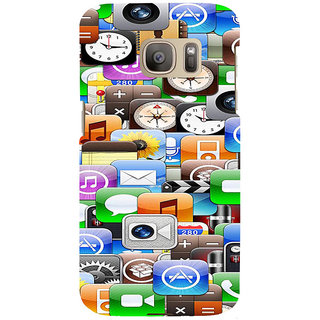 ifasho Modern  animated Design Pattern mobiles camera Back Case Cover for Samsung Galaxy S7 Edge