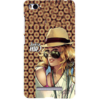 ifasho Look at me Girl Back Case Cover for Redmi Mi4i