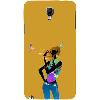 ifasho Girl with Bird Back Case Cover for Samsung Galaxy Note3 Neo