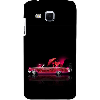 ifasho heart riding animated car Back Case Cover for Samsung Galaxy J3