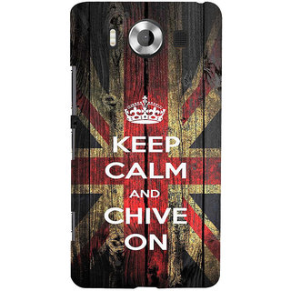 ifasho Nice Quote On Keep Calm Back Case Cover for Nokia Lumia 950