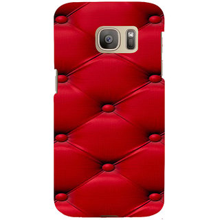 ifasho leather pattern sofa style red colour Back Case Cover for Samsung Galaxy S7 Edge