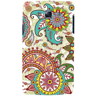 ifasho Animated Pattern colrful design flower with 3Daditional design Back Case Cover for Samsung Galaxy J7