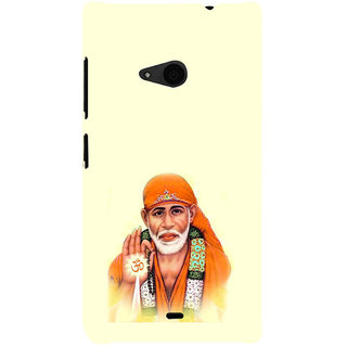 ifasho Shirdi wale Sai Baba Back Case Cover for Nokia Lumia 535