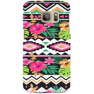 ifasho Animated Pattern colrful design flower with 3Daditional design Back Case Cover for Samsung Galaxy S7 Edge