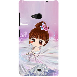 ifasho Princess Girl Back Case Cover for Nokia Lumia 535