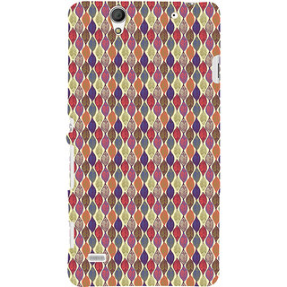 ifasho Animated Pattern colrful design leaves Back Case Cover for Sony Xperia C4