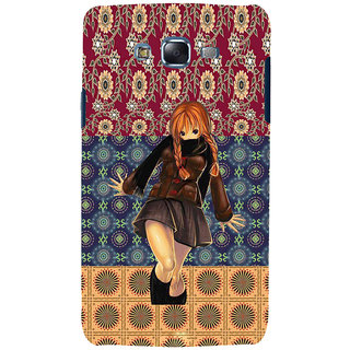 ifasho Dancing girl Back Case Cover for Samsung Galaxy J7