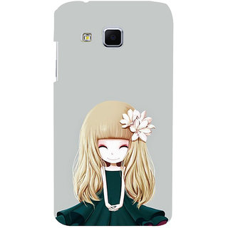 ifasho Girl  with Flower in Hair Back Case Cover for Samsung Galaxy J3