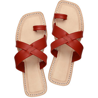 Outstanding designers radish brown ladies chappal