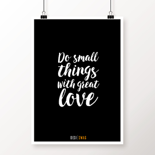 Desi Swag Multicolor Paper Posters So Small Things With Great Love