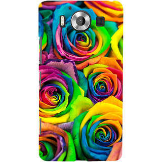 ifasho Animated Pattern colorful rose flower Back Case Cover for Nokia Lumia 950