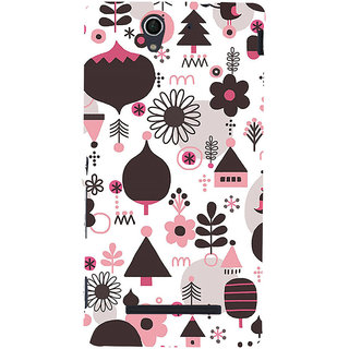 ifasho Animated Pattern colrful 3Dibal design cartoon flower Back Case Cover for Sony Xperia C3 Dual