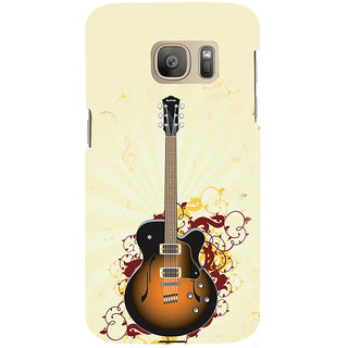 ifasho Modern Art Design Pattern Music Ins3Dument Guitar Back Case Cover for Samsung Galaxy S7 Edge
