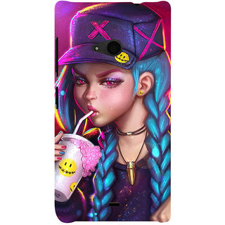ifasho Girl drinking cold drink Back Case Cover for Nokia Lumia 535