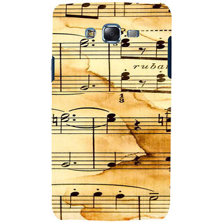 ifasho Animated Pattern design black and white music symbols and lines Back Case Cover for Samsung Galaxy J7 (2016)