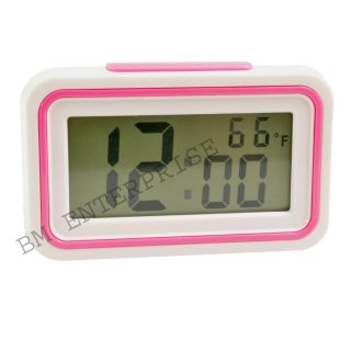 Talking Alarm Digital LCD Table Desk Car Calendar Clock with Alarm Temperature Multifunction