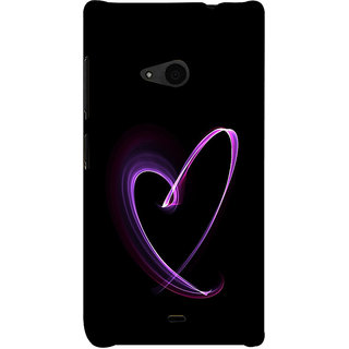 ifasho Modern Art Design heart animated Back Case Cover for Nokia Lumia 535