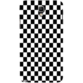 ifasho Squre and Checks In black and white Pattern Back Case Cover for Samsung Galaxy Note3 Neo