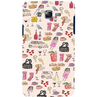 ifasho Modern Art Design Pattern girl shop car food bird Back Case Cover for Samsung Galaxy J7 (2016)