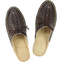 Attractive Brown Color Kolhapuri Half Bantu Leather Shoe For Men With Lace