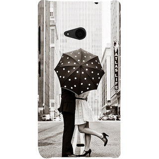 ifasho couple kissing in rain with umbrella Back Case Cover for Nokia Lumia 535