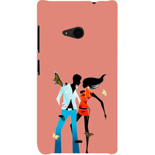 ifasho Boy and girl dancing Back Case Cover for Nokia Lumia 535