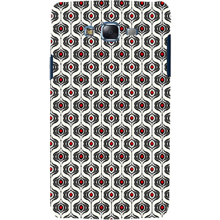ifasho Modern Theme of royal design in black and white pattern Back Case Cover for Samsung Galaxy J7