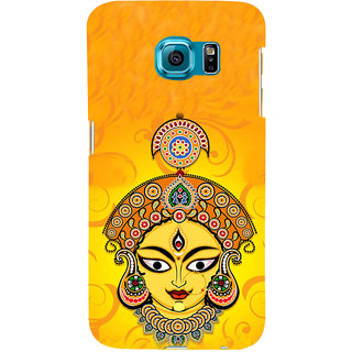 ifasho Godess Durga head Back Case Cover for Samsung Galaxy S6