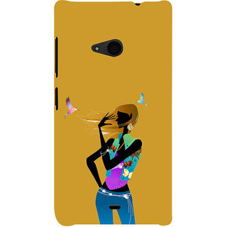 ifasho Girl with Bird Back Case Cover for Nokia Lumia 535