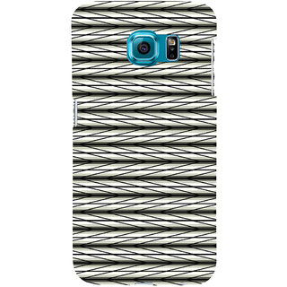 ifasho chevron style and Checks In black and white Pattern Back Case Cover for Samsung Galaxy S6 Edge Plus