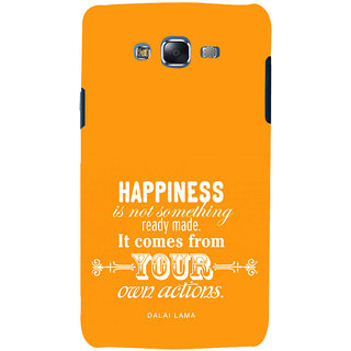 ifasho Faith  Quote on happiness Back Case Cover for Samsung Galaxy J5