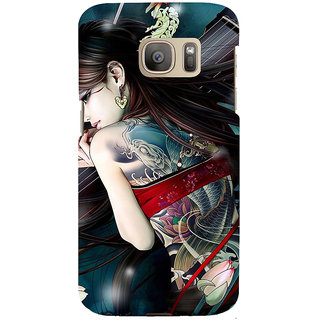 ifasho tatoo girl Back Case Cover for Samsung Galaxy S7 Edge