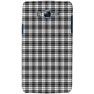 ifasho Modern Theme of black and white Squre lines Back Case Cover for Samsung Galaxy J5