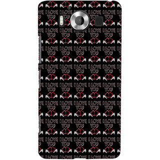ifasho Animated Pattern With Love and heart and I love you Back Case Cover for Nokia Lumia 950